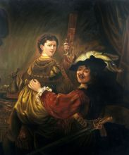 Rembrandt and Saskia in the Parable of the Prodigal Son