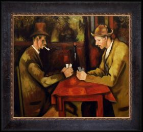 Card Players Pre-Framed