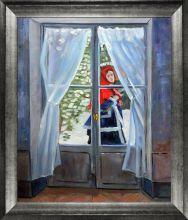 The Red Cape (Madame Monet) Pre-Framed