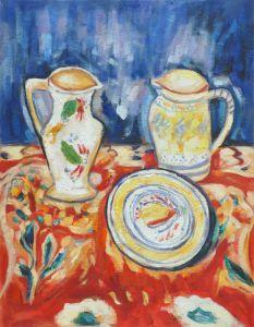 Still Life with Breton Pottery