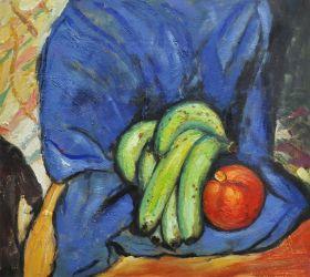 Still Life with Pomegranate and Bananas