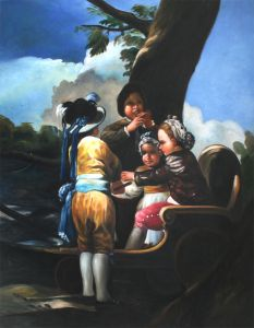 Children With A Cart