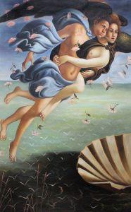 Birth of Venus (left panel)