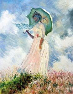 Woman with a Parasol (Facing Left)