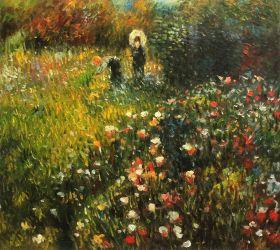 Woman with a parasol in a Garden (Frau mi Sonnenschirm)