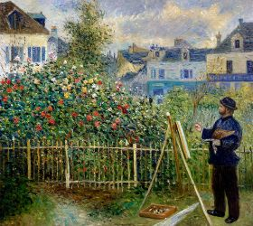 Monet Painting in His Garden at Argenteuil, 1873