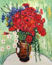 Vase with Daisies and Poppies