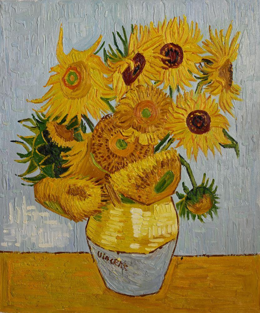 Van Gogh Sunflowers Oil Painting on Canvas Reproduction - Canvas Art & Reproduction Oil Paintings