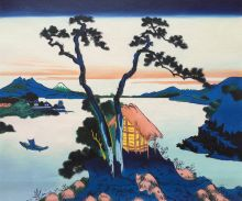 Lake Suwa in the Shinano Province
