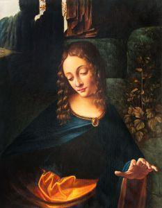Virgin of the Rocks (Louvre detail)