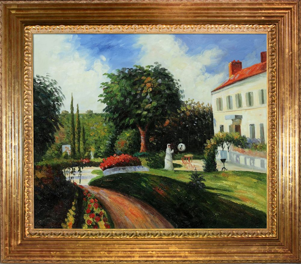 The Garden Of Les Mathurins At Pontoise Pre Framed