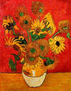 Sunflowers, Red