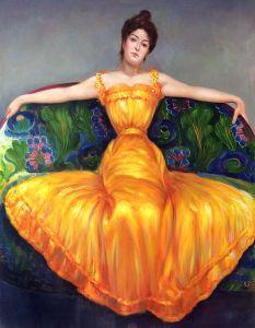 Lady in Yellow Dress