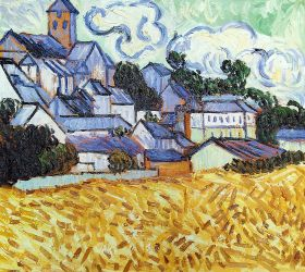 View of Auvers with Church, 1890