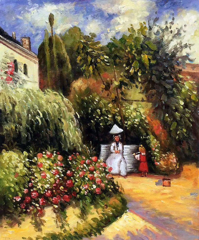 The Garden At Pontoise Canvas Art Reproduction Oil