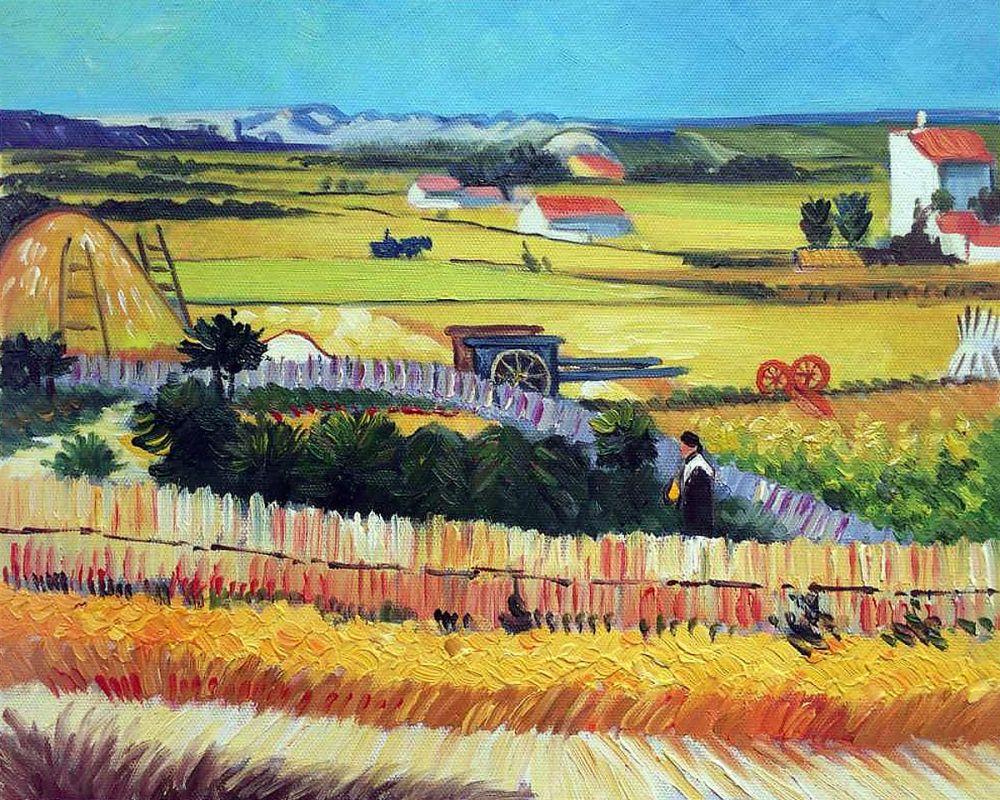 Harvest with Irises Collage